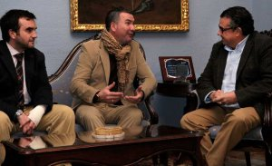 El alcalde del Puerto recibe a Ángel Subiela