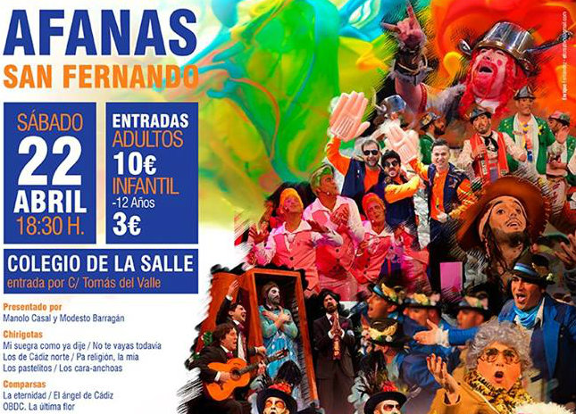 Afanas San Fernando celebra su segundo festival de Carnaval con un cartel de lujo