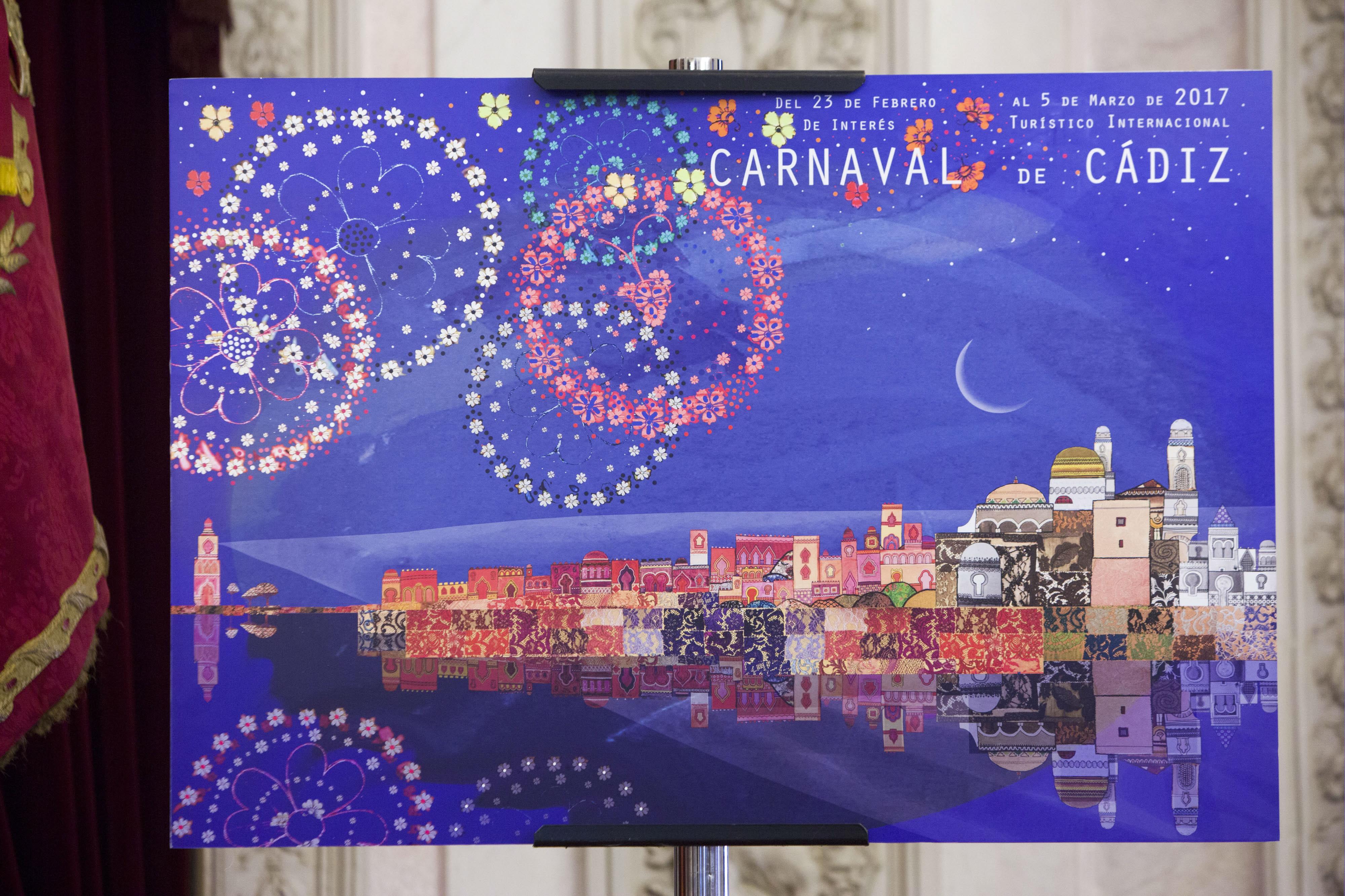 Los nacidos o empadronados en Cádiz podrán votar de forma presencial su cartel favorito para anunciar el carnaval