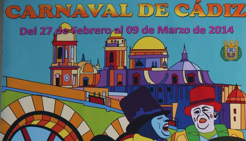 Un cartel de Remedios Salas anuncia ya el Carnaval de Cádiz del año que viene