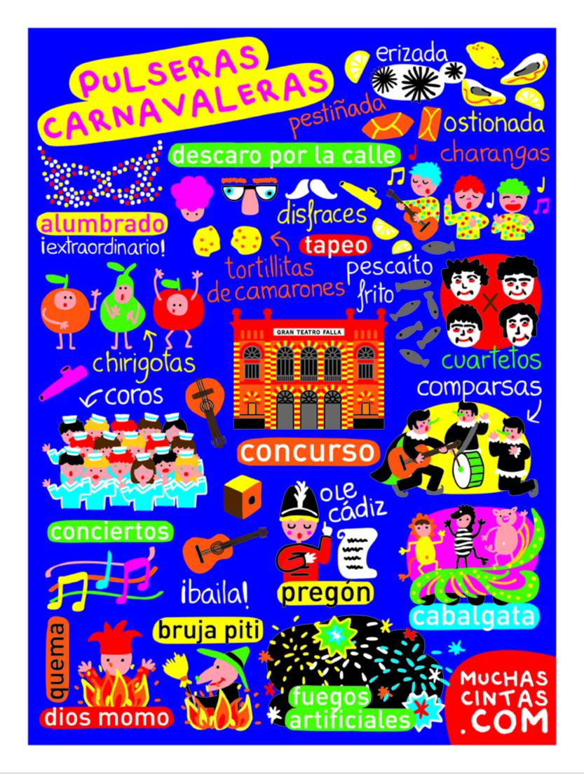 El Carnaval de Cádiz en 28 cm de tela