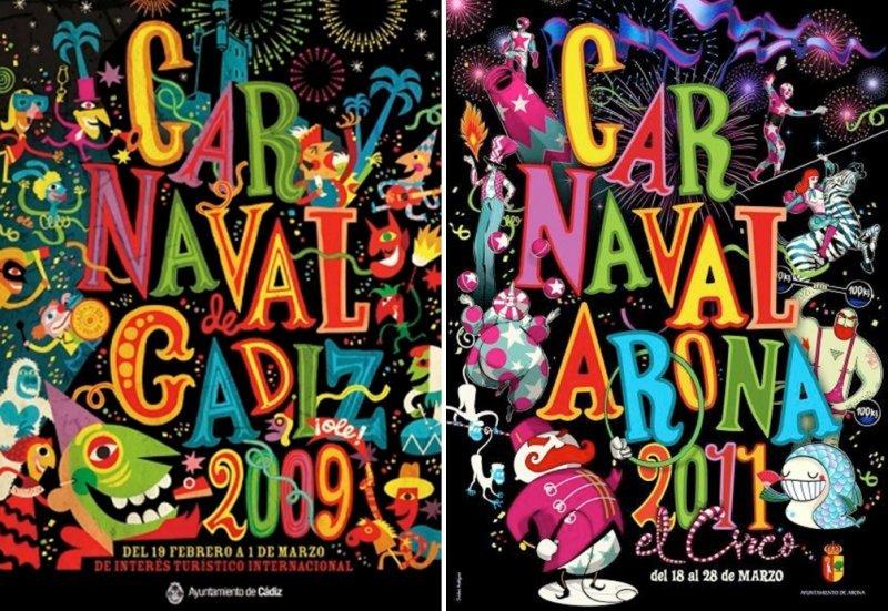 El Carnaval de Arona plagia el cartel de Cádiz del año 2009