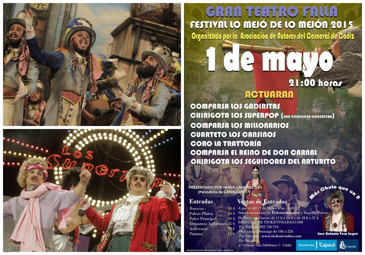 Los primeros premios de coros, chirigotas y comparsas estarán el 1 de mayo en el Falla