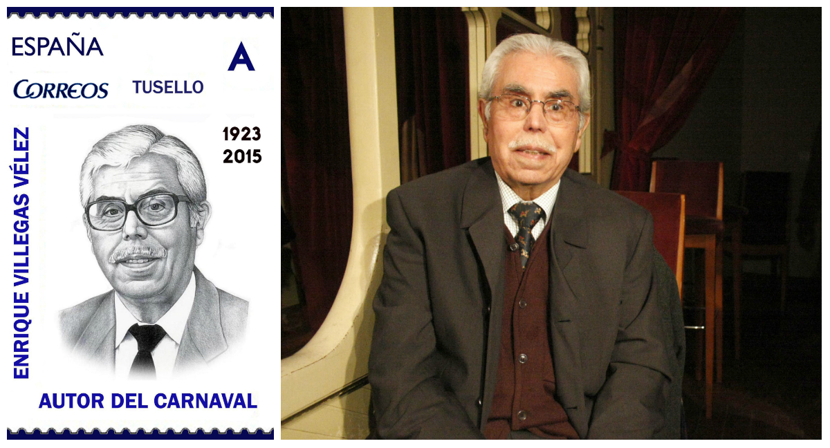 Una exposición filatélica rinde homenaje a Enrique Villegas