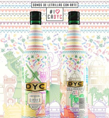 DYC celebra el Carnaval de Cádiz 2017 con una edición especial de su botella