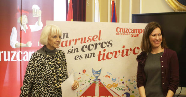 Exposición sobre la publicidad de Cruzcampo en el Carnaval