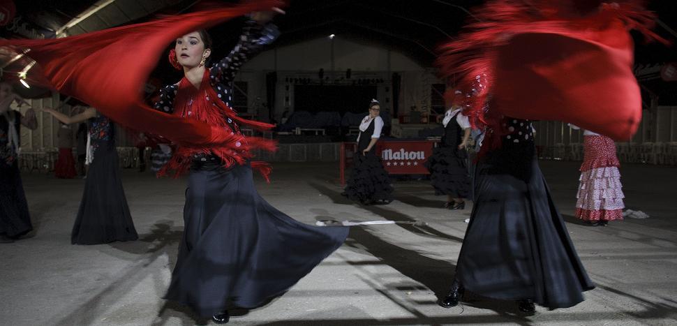 Última jornada del concurso de Baile por Tanguillos en la carpa