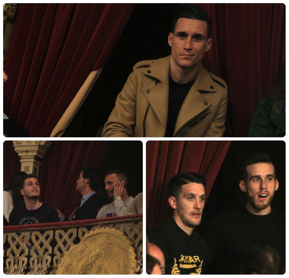 Callejón y Luis Alberto, dos futbolistas de primer nivel en el Gran Teatro Falla