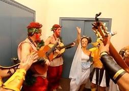 El coro El Orfeón, entre bambalinas
