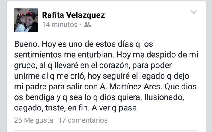 'Rafita', primer fichaje para la comparsa de Antonio Martínez Ares