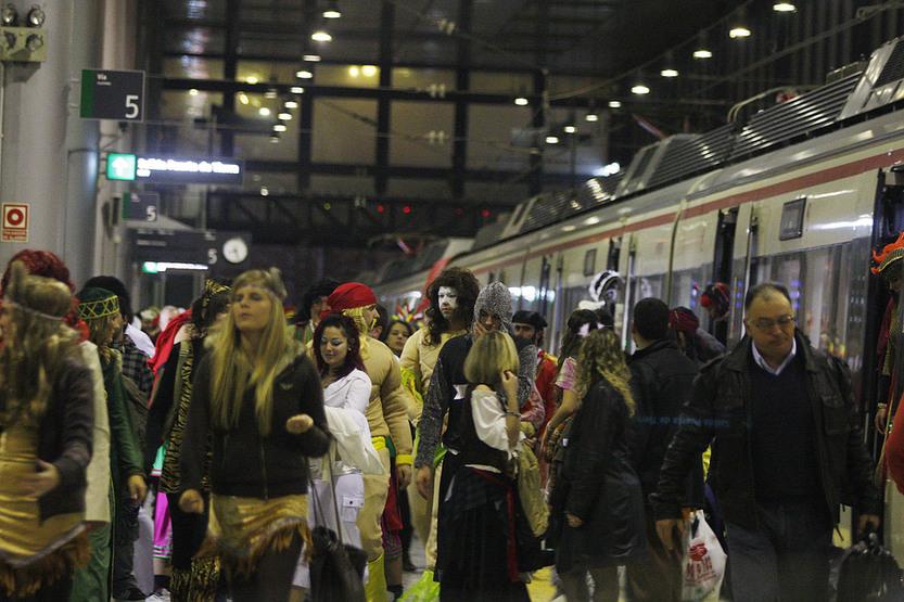 Renfe ofrece más de 200.000 plazas para llegar al Carnaval