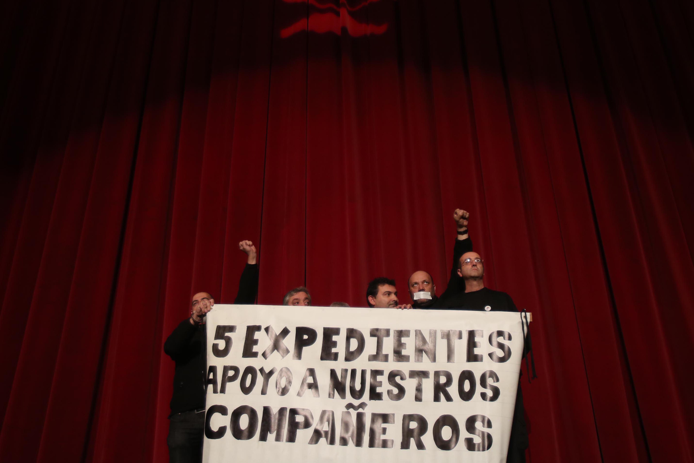 Protesta de los tramoyistas del teatro Falla