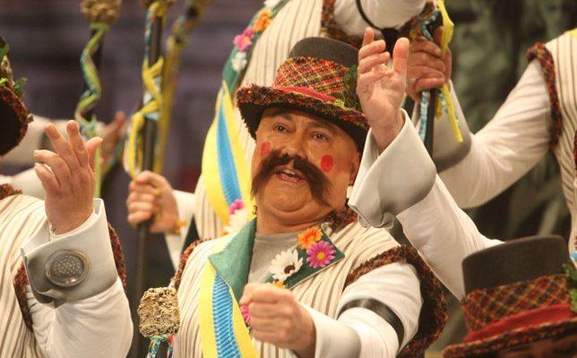 Actuación del coro La Comuna. Carnaval de Cádiz 2018