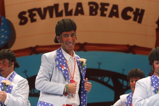Actuación de la chirigota Lo que nos faltaba. Carnaval de Cádiz 2018 Sevilla