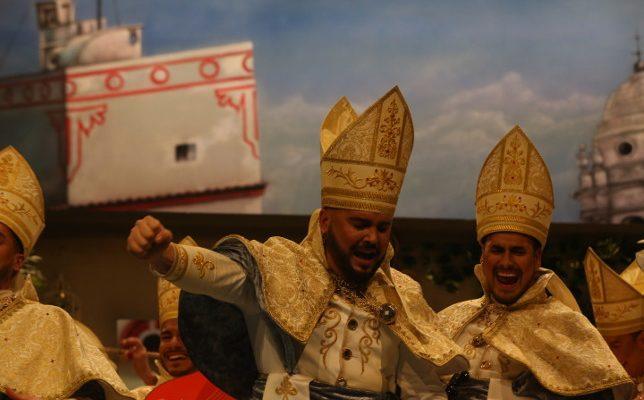 Actuación de OBDC: El joven obispo. Carnaval de Cádiz Germán Rendón 2018