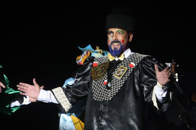 Actuación de la comparsa El catedrático. Carnaval de Cádiz 2018 Andújar