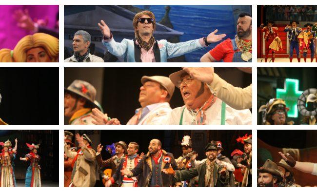 Agrupaciones de la primera sesión de cuartos del Carnaval de Cádiz 2018