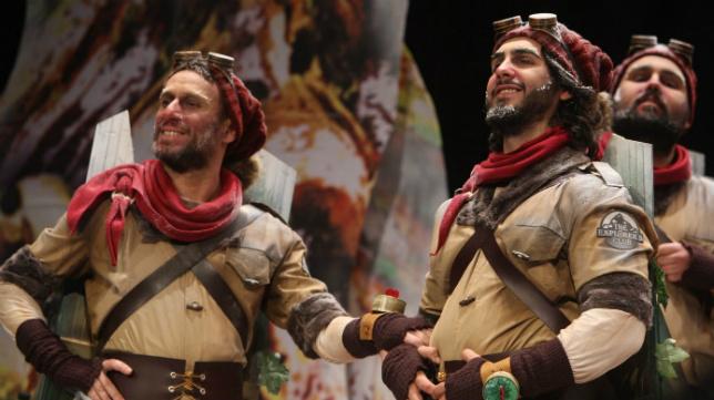 'La cumbre', comparsa de Moreno Gandul y Luis Rivero. Carnaval de Cádiz 2018