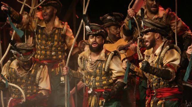 Actuación de la comparsa Los Campaneros. Carnaval de Cádiz COAC 2018 Kike Remolino