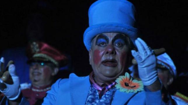 Pepe Scapachini en una actuación en el Falla