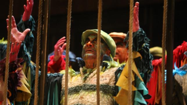 Comparsa Los prisioneros, en el Carnaval de Cádiz