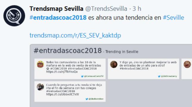 Carnaval de Cádiz Trending Topic