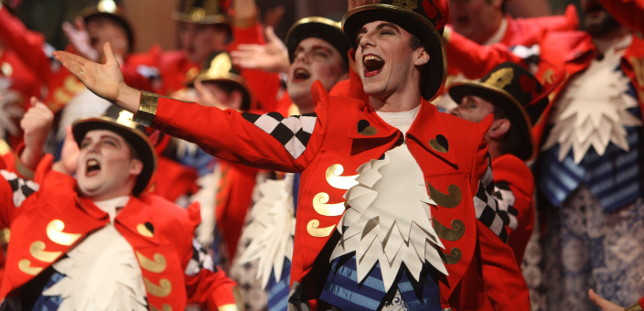 Actuación en cuartos del coro Y sin embargo, te quiero.