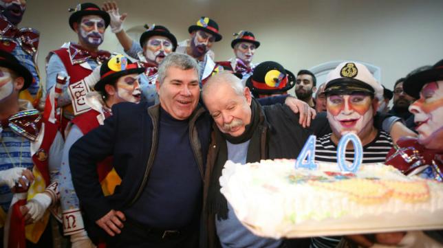Julio Pardo celebra su 40 'cumpletangos'.
