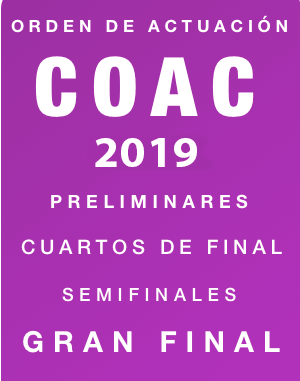Orden actuación COAC 2019.