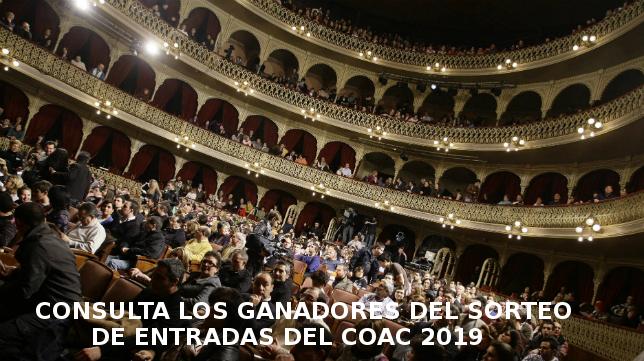 Ganadores del sorteo de entradas COAC 2019