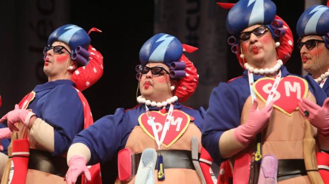 Chirigota Las supermamás en el COAC 2020.